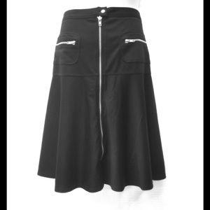 New ASOS Black A Line Skirt w/ Zippers M 8
